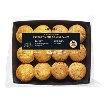 Assortiment 6 mini-cakes Poulet Curry - Légumes du soleil